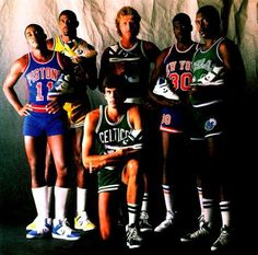 Some of the 80's stars back when Converse ruled in the NBA. I'm not naming them because I can't. It's something like this: Isaiah Thomas, Magic Johnson, Kevin McHale, Larry Bird, Bernard King and Mark Aguirre.