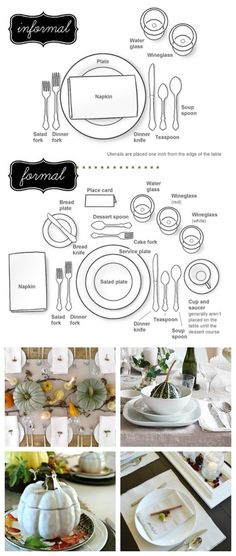 How To Set your Formal and Informal Table Thanksgiving dinner table, Table, set, Formal, Informal Thanksgiving Table Settings, Thanksgiving Parties, Christmas Table Settings, Holiday Tables, Christmas Tables, Thanksgiving Dinner Tables, Entertainment Table, Dinner Sets, Dinner Table Set Up