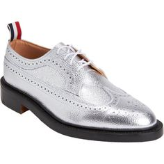 Thom Browne Metallic Wingtip Brogue at Barneys.com