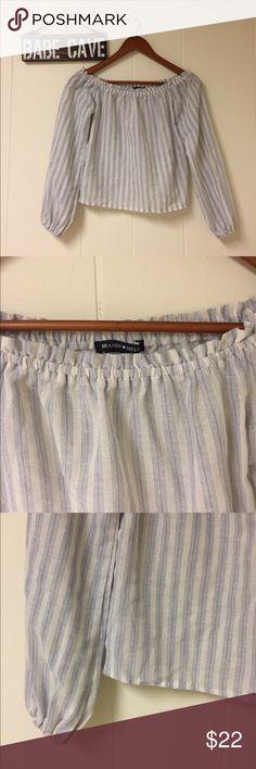 """Spring fling"" blouse Brandy Melville One size  Off shoulder 10/10 condition Brandy Melville Tops Blouses"