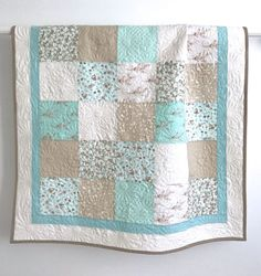 Patchwork Baby Girl Quilt Lullaby Collection By Moda Shades of