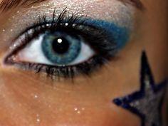 Cheer makeup. <3
