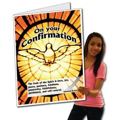 2'x3' Confirmation Card W/Envelope (Dove in Window) - Huge Greeting Card VictoryStore http://www.amazon.com/dp/B00CXXOA4O/ref=cm_sw_r_pi_dp_efw.wb027MY2Q