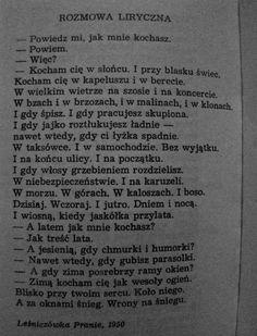 Konstanty Ildefons Gałczyński Film Books, Poetry Quotes, Deep Thoughts, Quotations, It Hurts, Inspirational Quotes, Wisdom, Mood, Nostalgia