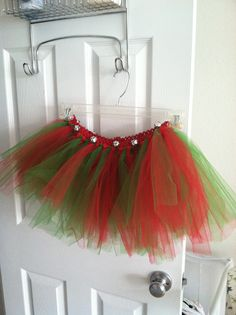 Jingle Bell Tutu - follow Rambling Mom on Facebook for details on how to order!  Great for a jingle jog or other fun Christmas event. Custom orders for all sizes!