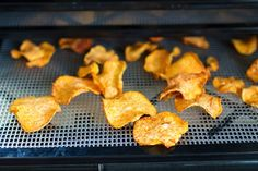 Sweet Potato Chips in the Dehydrator