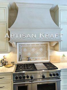 Order Kitchen, Kitchen Redo, New Kitchen, Kitchen Remodel, Kitchen Ideas, Kitchen Design, Kitchen Hoods, Stone Kitchen, Oven Vent