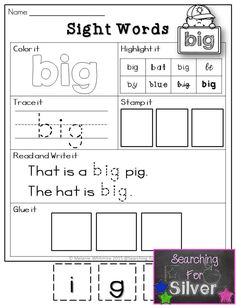 Pre-primer SIGHT WORD pages! Fun and engaging activities to help students learn  sight words.