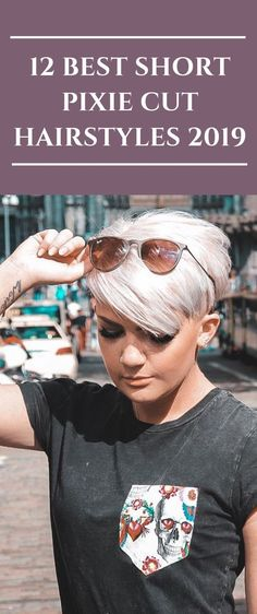 12 Best Short Pixie Cut Hairstyles 2019 Pixie Haircut For Thick Hair Cut Fashion Haircut hairstyles Pixie pixiehair short Pixie Cut With Bangs, Blonde Pixie Cuts, Short Hair With Layers, Pixie Cut Color, Pixie Cut With Undercut, Undercut Pixie Haircut, Blonde Pixie Haircut, Short Pixie Haircuts, Short Hairstyles For Women