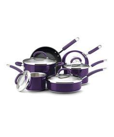 Another great find on #zulily! Purple 10-Piece Cookware Set #zulilyfinds