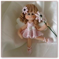 Beautiful flower fairy to use on any craft project