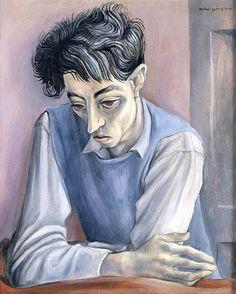 Painting by Michael Ayrton (1921-1975, English), 1941, Portrait of John Minton.