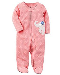 Carters Baby Girls Elephant Cotton Zip-Up Sleep & Play PreemieYou can find Carters baby girls and more on our website.Carters Baby Girls Elephant Cotton Zip-Up Sleep & Play Pr. Newborn Girl Outfits, Cute Baby Girl Outfits, Carters Baby Boys, Baby Kids, Carters Baby Girl Clothes, Babies Clothes, Baby Play, Princesa Amber, Baby Girl Elephant