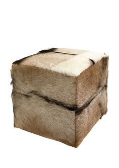 CC Home Furnishings Rustic Square Goat Hide and Teak Wood Ottoman Stool Upholstered Stool, Ottoman Footstool, Ottoman Cover, Cowhide Ottoman, Chair Cushions, Cowhide Leather, Square Ottoman, Colorful Furniture, Funky Furniture