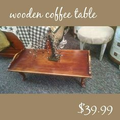 Wooden table distressed and refinished with coconut oil.