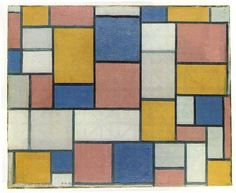 Mondrian, Composition with color planes and gray lines, 1918 - Piet Mondrian – Wikipedia