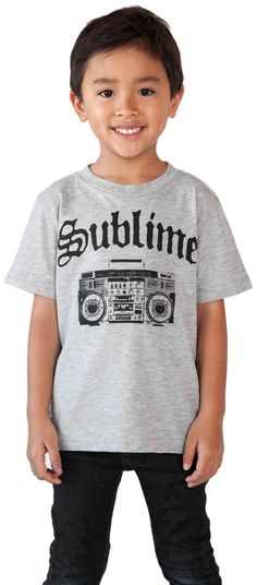 Sublime Retro BoomBox Baby Band Toddler Boys T-Shirt