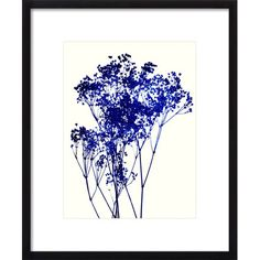 Add natural appeal to your master suite or living room with this wood-framed giclee print, showcasing a baby's breath design.   Prod...