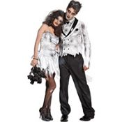 zombie bride & groom!  looks like the perfect couples costume for halloween. can i make it a diy project??