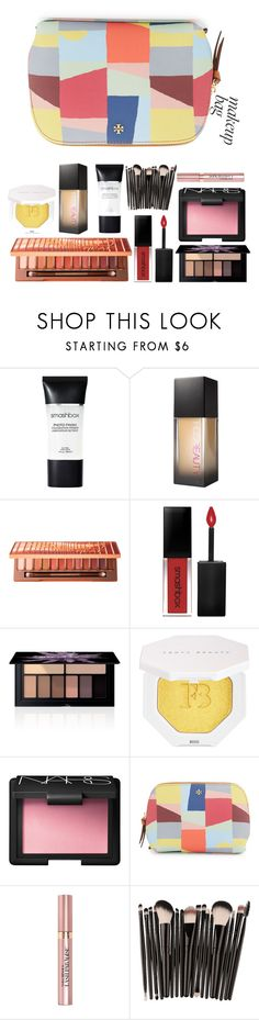 """makeup bag"" by queenshaima ❤ liked on Polyvore featuring beauty, Smashbox, Huda Beauty, Urban Decay, Puma, NARS Cosmetics, Tory Burch and L'Oréal Paris"