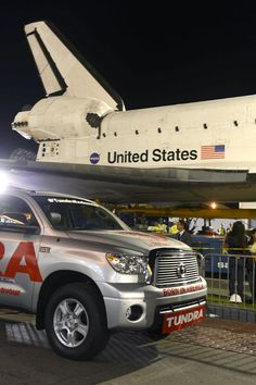 Side by side with the Space Shuttle Endeavour New Toyota Truck, Toyota Trucks, Toyota Tundra, Scion, Space Shuttle, Pickup Trucks, Bowie, Nasa, Community