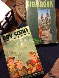 A couple of my old scout books.