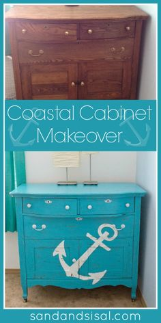 Coastal Decor | her home by adding in coastal decor today she is sharing how she gave ...