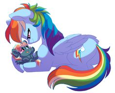 Rainbow and Stormy by Lopoddity on DeviantArt My Little Pony Cartoon, My Little Pony Drawing, My Little Pony Pictures, Rainbow Dash And Soarin, Little Poni, Mlp Fan Art, Imagenes My Little Pony, Mlp Pony, Cartoon Shows