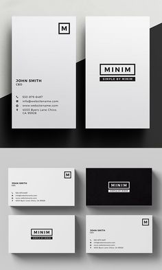 Minim - Simple Clean Business Card Free Business Card Template Business Card Template Word 10 Per Sh Avery Business Cards, Business Cards Layout, Premium Business Cards, Free Business Card Templates, Minimal Business Card, Simple Business Cards, Business Design, Professional Business Card Design, Business Casual