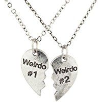 Lux Accessories Silvertone Weirdo 1 2 BFF Best Friends Heart Charm Necklaces for sale online Bff Necklaces, Best Friend Necklaces, Best Friend Jewelry, Matching Necklaces, Statement Necklaces, Bff Gifts, Best Friend Gifts, Gifts For Friends, Best Friend Things