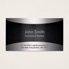 Carbon Black Investment Banker Business Card