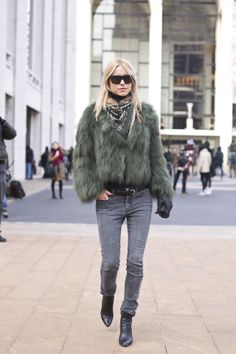 Pernille Teisbaek looking completely fabulous. NYC.