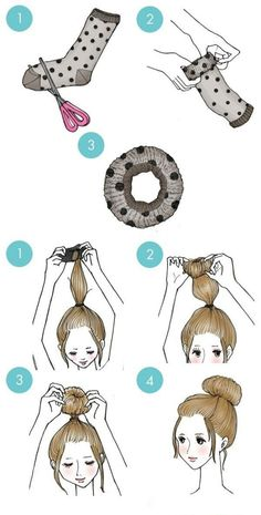 The sock bun tutorial