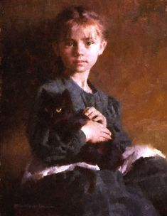 Portrait w/Kitten::Morgan Weistling Morgan Weistling, People Art, Art Studies, Cute Illustration, Cat Art, Art Girl, Art History, Character Art, Art Photography