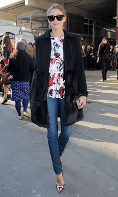 Olivia Palermo out in London in a chic ensemble