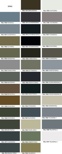Overview of RAL colors beautiful pins Diy Interior, Scandinavian Interior, Interior Paint, Living Room Ideas 2019, Living Room Grey, Ral Paint, Ral Color Chart, Grey Windows, Ad Home