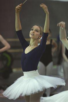 Caroline Dougherty rehearsing for CPYB's Sleeping Beauty
