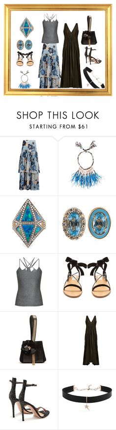 """Fashion ways...."" by jamuna-kaalla ❤ liked on Polyvore featuring Chloé, Etro, Noor Fares, Alison Lou, Track & Bliss, Valentino, Lanvin, Kalita, Gianvito Rossi and Diane Kordas"