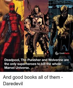 Deadpool the punisher wolverine marvel universe facts - Visit to grab an amazing super hero shirt now on sale! Marvel Dc Comics, Marvel Heroes, Marvel Characters, Captain Marvel, Ms Marvel, Marvel Avengers, Fictional Characters, Superhero Facts, Superhero Villains