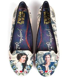 Irregular Choice Floral Star Wars I Know Flats