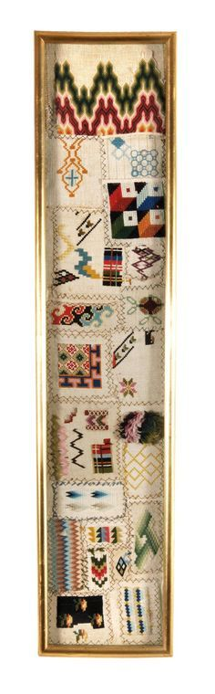 A 19th Century WoolWork Sampler