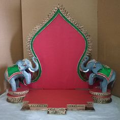Two side Elephant design Makhar. for booking please contact 9011310753 Housewarming Decorations, Diy Diwali Decorations, Festival Decorations, Janamashtami Decoration Ideas, Ganpati Decoration Design, Diwali Diy, Diwali Craft, Ganpati Decoration Ideas Thermocol, Diy Home Crafts