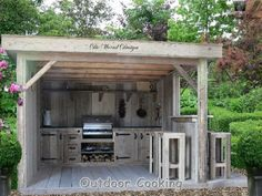 If you are looking for Rustic Outdoor Kitchens, You come to the right place. Here are the Rustic Outdoor Kitchens. This post about Rustic Outdoor Kitchens was post. Outdoor Areas, Outdoor Rooms, Outdoor Living, Outdoor Decor, Backyard Projects, Outdoor Projects, Parrilla Exterior, Bbq Shed, Built In Grill