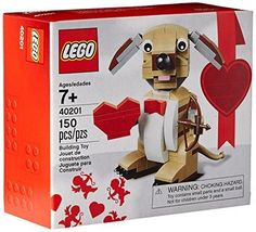 LEGO Bricks & More Valentines Cupid Dog 40201 Building Kit. Would be the perfect gift for your little one for Valentines Day! SHOP NOW! Lego Valentines, Valentine Cupid, Valentines Day Gifts For Him, Valentine Day Love, Valentine Ideas, Lego Age, Buy Lego, Lego Brick, Building Toys