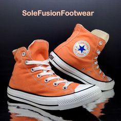 cdbf0f5d971c Converse Womens All Star Orange Trainers Sz 6 Mens High Top SNEAKERS EU 39  US 8