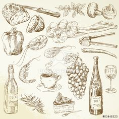 http://www.dollarphotoclub.com/stock-photo/food collection - drawing/53448323 Dollar Photo Club millions of stock images for $1 each
