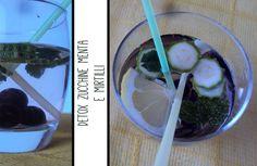 detox frutta e verdura - menta zucchine e mirtilli