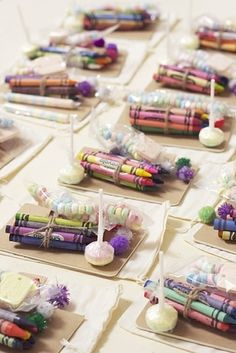 31 Impossibly Fun Wedding Ideas..Kid's Table. I love the idea of kids takeaways- I always felt left out of the favors as a kid!
