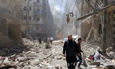 NGOs demand end to Syria atrocities as Aleppo airstrikes continue.(April 29th 2016)