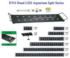 "18""-24""(45CM-60CM) EVO Duad Saltwater Coral Reef Cichlid freshwater plant  Aquatic tank Aquarium LED Light Lamp Lighting fixture"